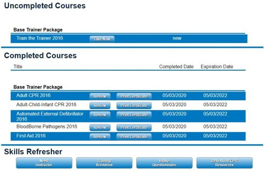 Think Safe LMS Screen Shot of IOSHA Training